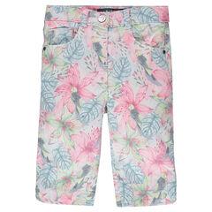 Pantalón corto de sarga con estampado