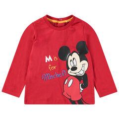 Camiseta de manga larga de punto con estampado de Mickey de Disney en la parte delantera