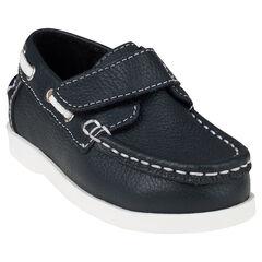 Zapatillas de deporte de caña baja con velcro con barco de cuero