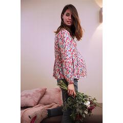 Top premamá de manga larga con estampado floral