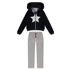 Júnior - Chándal con chaqueta de terciopelo y pantalón de felpa
