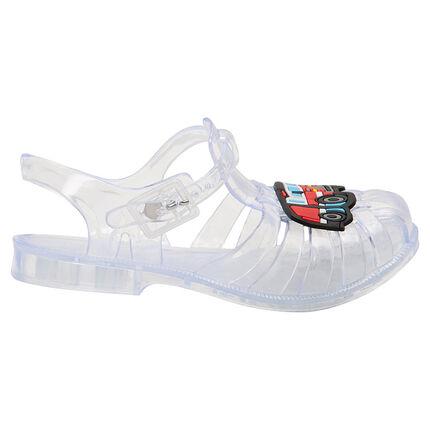 Zapatos de playa transparentes con camión plastificada de la 24 a la 29