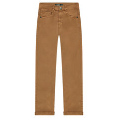 Pantalón de sarga lisa