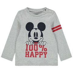Camiseta de manga larga estampada Mickey Disney