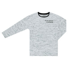 Júnior - Camiseta de manga larga con inscripciones estampadas