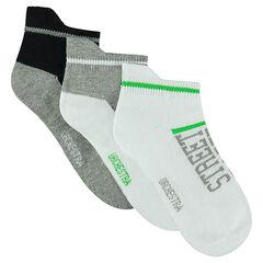 Juego de 2 pares de calcetines cortos variados.