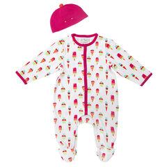 Pack de pijama con estampado de helado y gorro