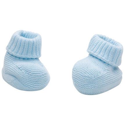 Patucos azules de algodón ecológico