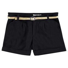 Júnior - Pantalón corto con chevrones y cintura brillante desmontable