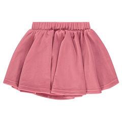 Falda de terciopelo con acanalado