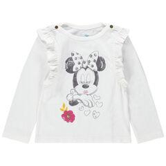 Camiseta de manga larga con volantes y estampado de Minnie Disney