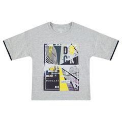 Júnior - Camiseta de manga corta de punto con estampado de colores