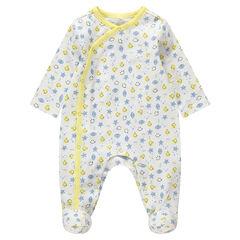 Pijama de algodón ecológico con Smiley estampado all over