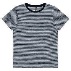 Júnior - Camiseta de manga corta de rayas all over