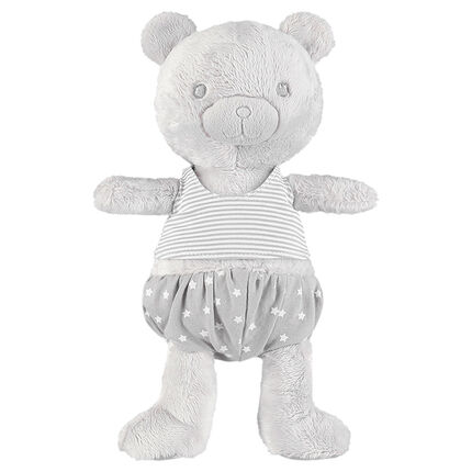 Short con oso de tela sherpa con estrella