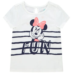 T-shirt manches courtes en coton bio print Minnie Disney , Orchestra