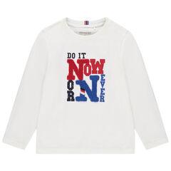 T-shirt manches longues à textes printés et bouclette pour enfant garçon , Orchestra