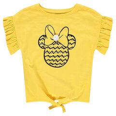 Camiseta de manga corta con mangas con volantes y estampado de ©Disney Minnie