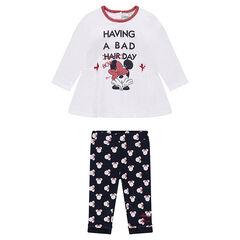Conjunto de túnica y leggings estampados Disney Minnie