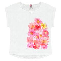 Camiseta de manga corta con un precioso estampado de flores