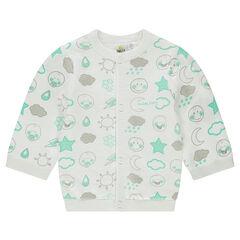 Chaqueta de punto tricot con forro de punto y motivo ©Smiley