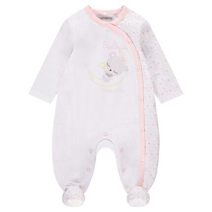Pijama de punto con estampado de koala y estrellas