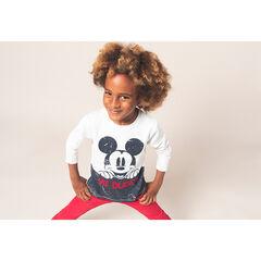 Camiseta de manga larga de punto con estampado de ©Disney Mickey efecto arrugado