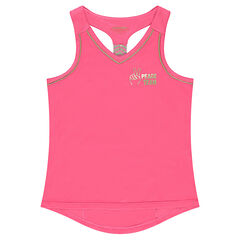 Júnior - Camiseta deportiva lisa con bolsilo con cremallera en la espalda