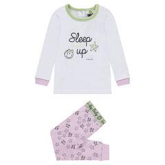 Pijama de punto con estampado de ©Smiley y parte inferior con estampado all over