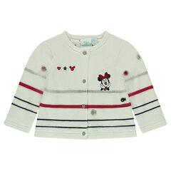 Chaqueta de punto con forro de jersey Disney con Minnie bordada