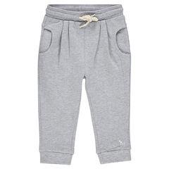 Pantalón corte loose-fit de felpa liso
