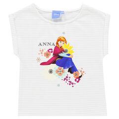 Camiseta de manga corta de rayas con estampado Disney Frozen