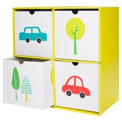Cubo de almacenamiento de cartón con 4 cajones
