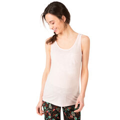Camiseta sin mangas de punto slub con bolsillo tipo parche