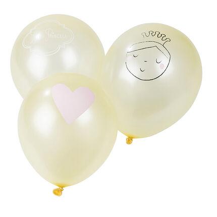 Lote de 10 globos de cumpleaños inflables con dibujo de princesa