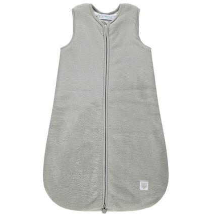 Saquito para dormir sin mangas de tela sherpa con forro de tejido de punto