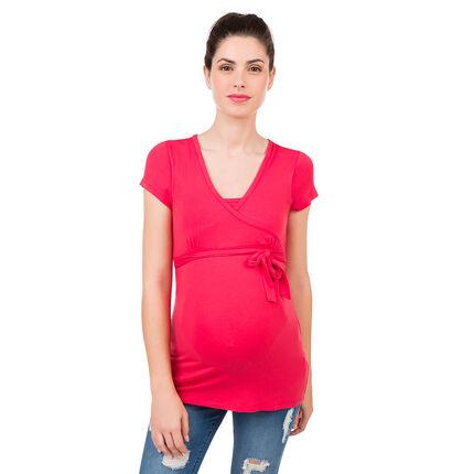 Camiseta de manga corta de embarazo y lactancia