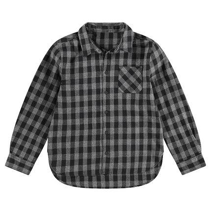Júnior - Camisa de manga larga a cuadros all-over