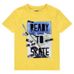 Júnior - Camiseta de manga corta de punto liso con estampado de fantasía