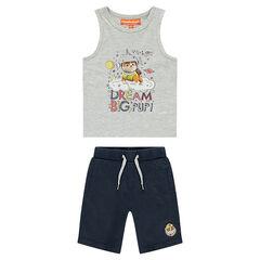 Conjunto con camiseta y estampado de Ruben de Paw Patrol y bermudas lisas de Nickelodeon™