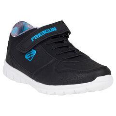 Zapatillas de deporte de caña baja con cordones con velcro de aspecto cuero