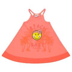 Vestido de verano con tirantes y estampado ©Smiley