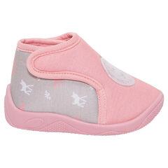 Zapatillas tipo botines con parche de seguridad y cervatillo