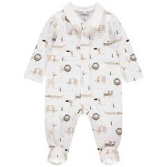 Pijama de algodón ecológico con estampado de animales de la jungla all over