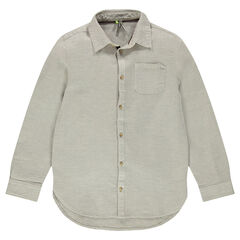 Júnior - Camisa de algodón de fantasía con bolsillo
