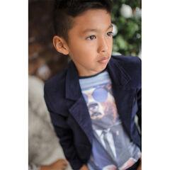 Júnior - Camiseta de manga larga con estampado de oso