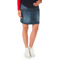 Falda para el embarazo efecto usado y efecto crinkle de jean