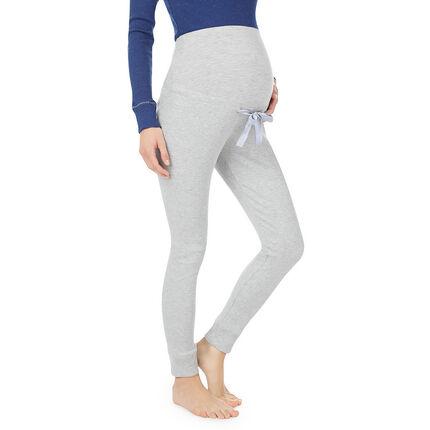 Pantalón de premamá cómodo con banda superior acanalada