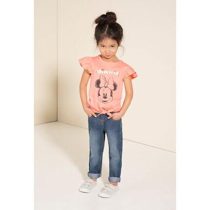 Camiseta de manga corta con estampado de Minnie ©Disney y lentejuelas mágicas