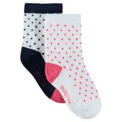 Juego de 2 pares de calcetines variados con lunares all-over